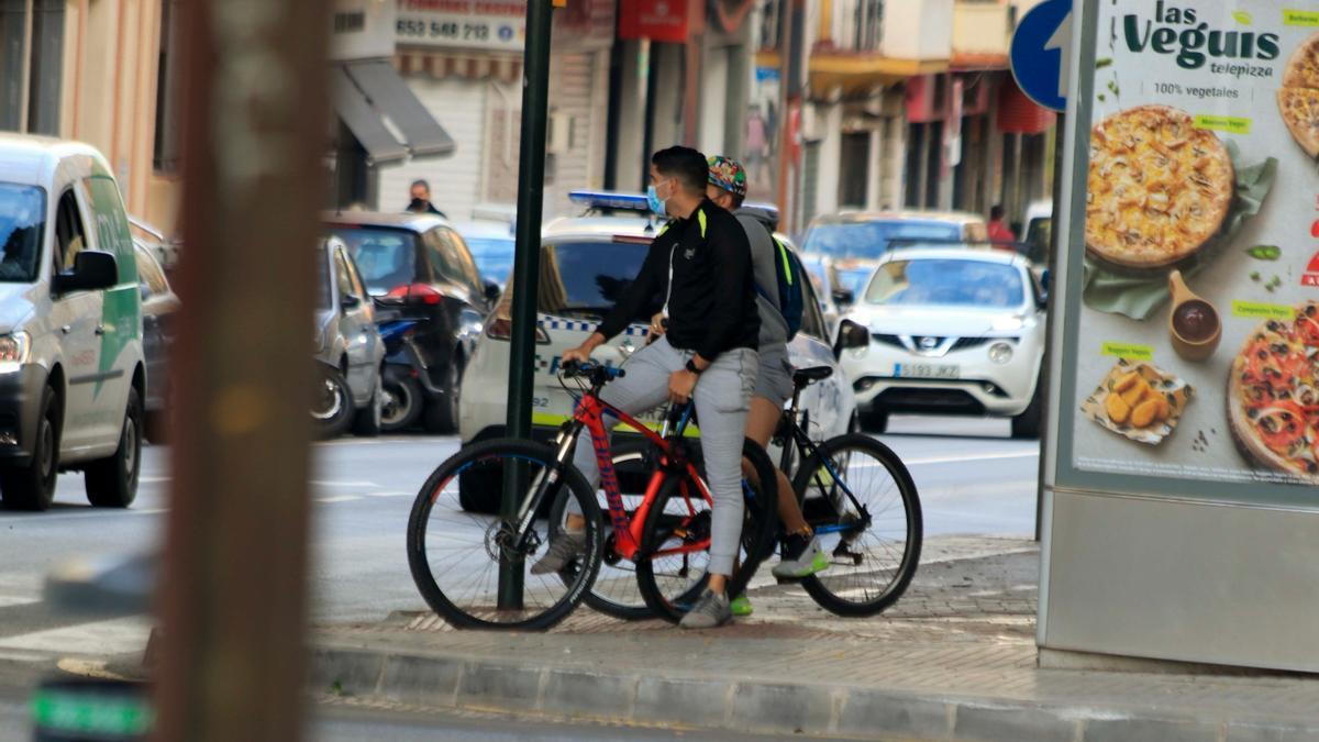 Ciclistas en la capital.
