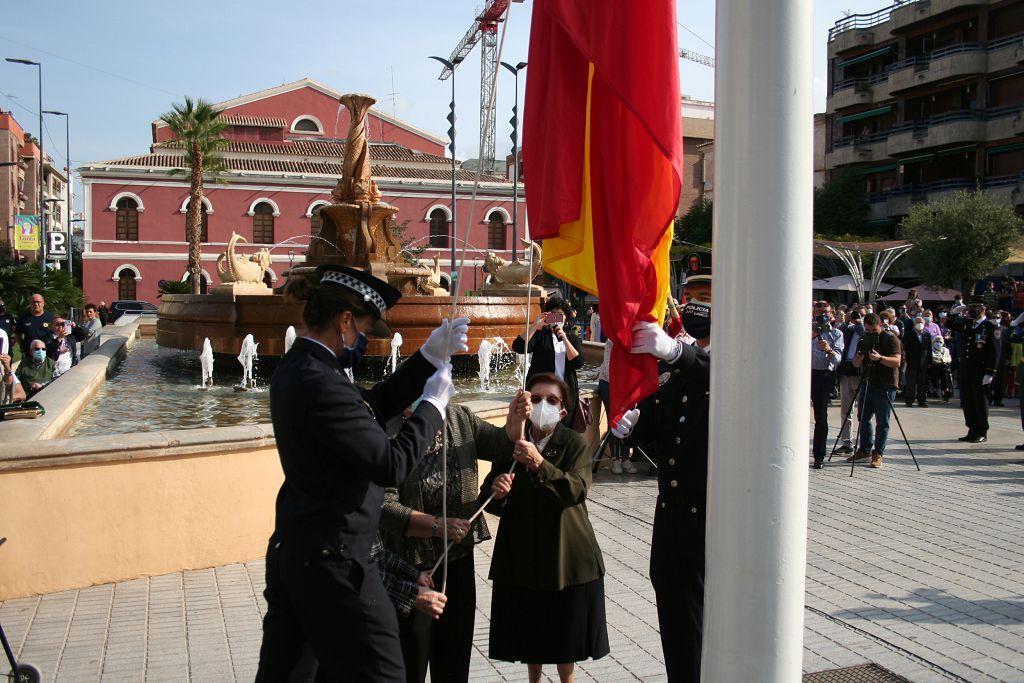Izado de bandera en Lorca