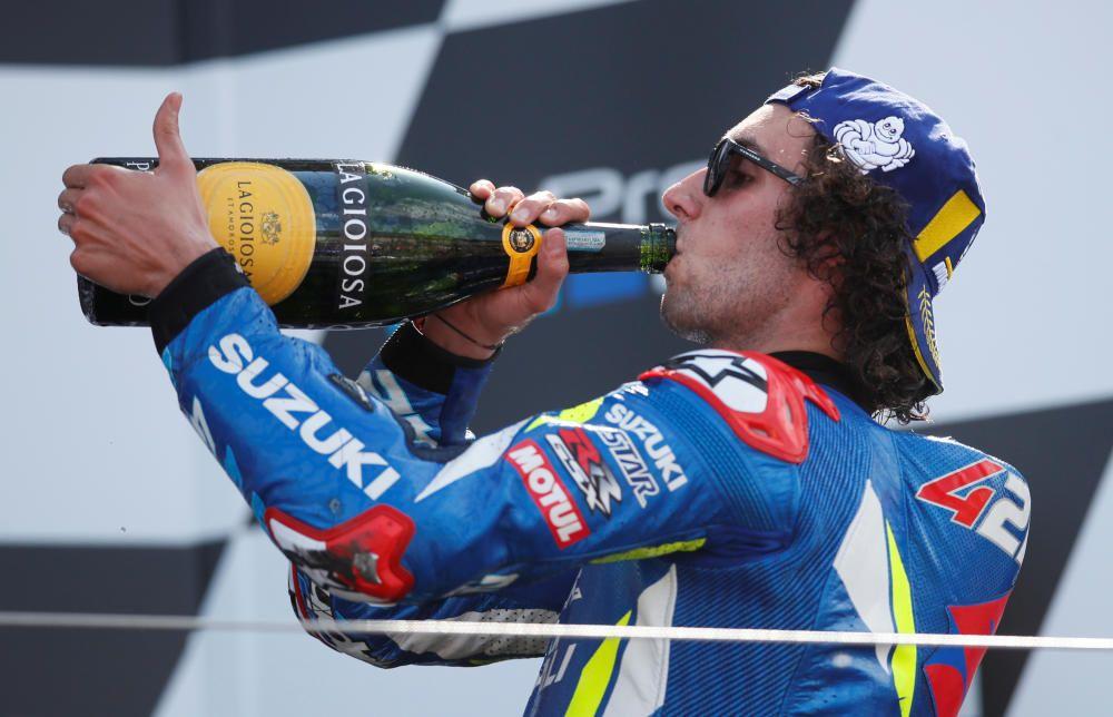 Las imágenes de la victoria de Rins en Silverstone