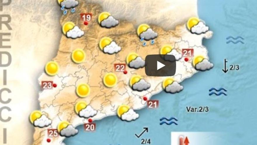 Alerta per tempestes fortes a les comarques del nord-est