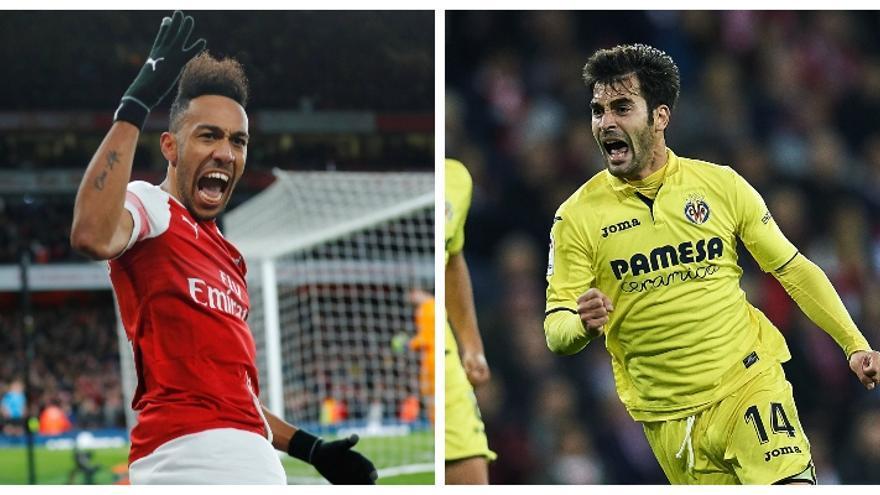 Aubameyang y Trigueros, duelo de talentos dentro y fuera del campo en el Arsenal-Villarreal