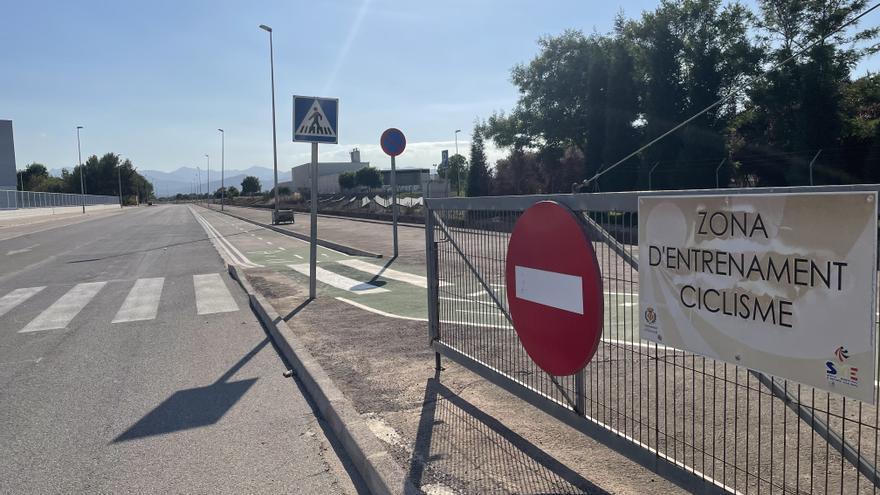 Aparecen chinchetas en un área de entrenamiento ciclista de Vila-real