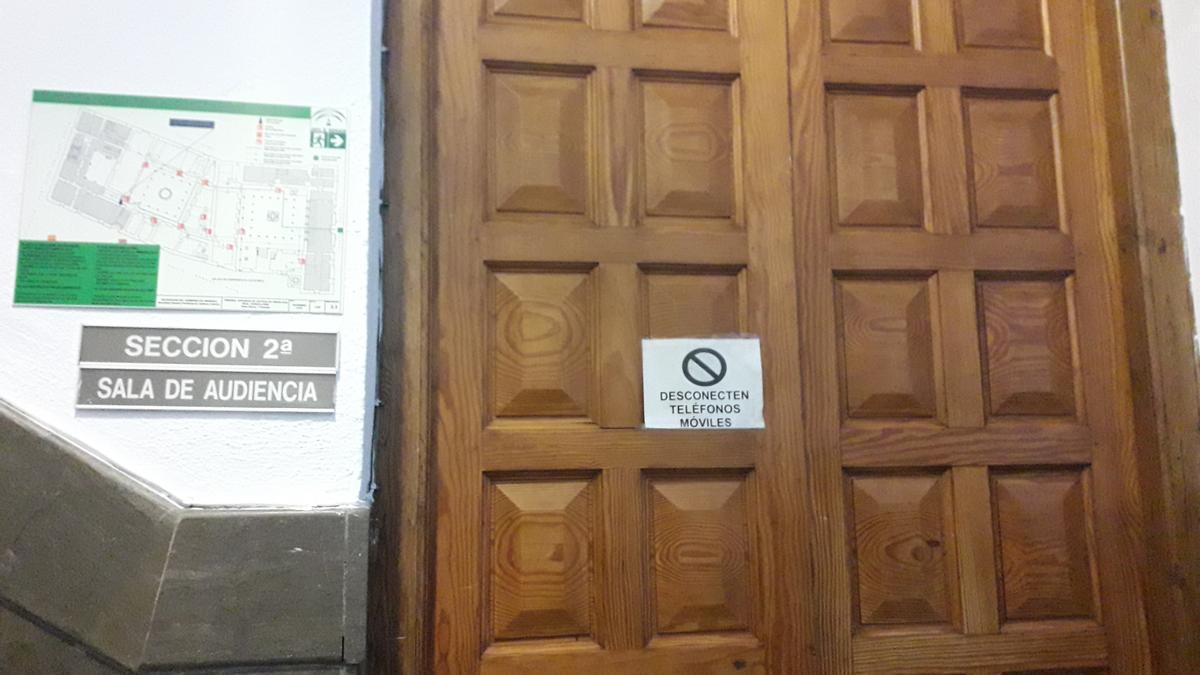 Sala de vistas de la Sección Segunda de la Audiencia de Granada.