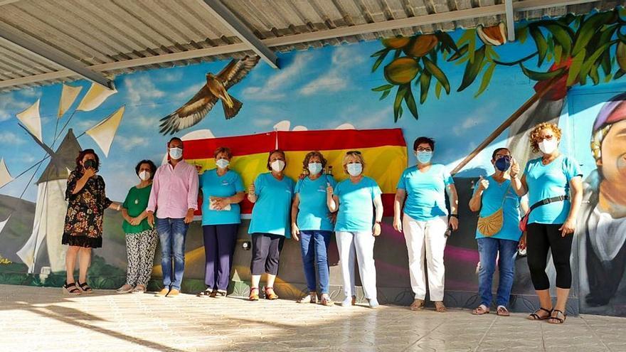 Un mural en homenaje a las mujeres rurales en Galifa