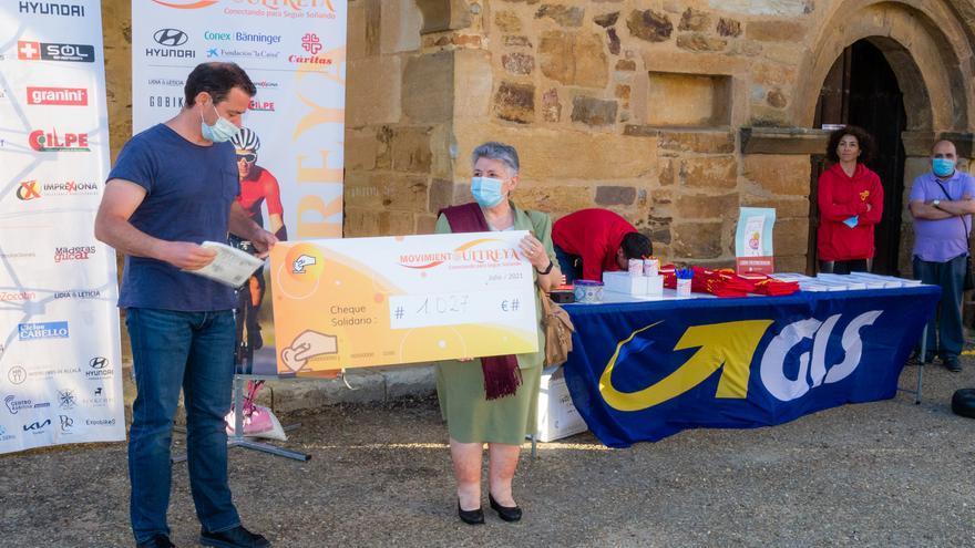 """La iniciativa solidaria """"Ultreya"""" recauda en Tábara 1.027 euros"""