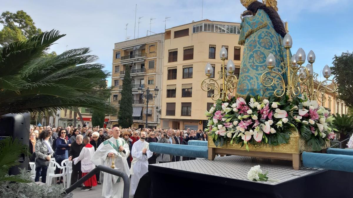 Imagen de archivo de la procesión de la patrona de Campanar
