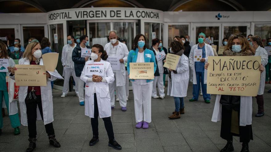 GALERÍA | La concentración de sanitarios de Zamora, en imágenes