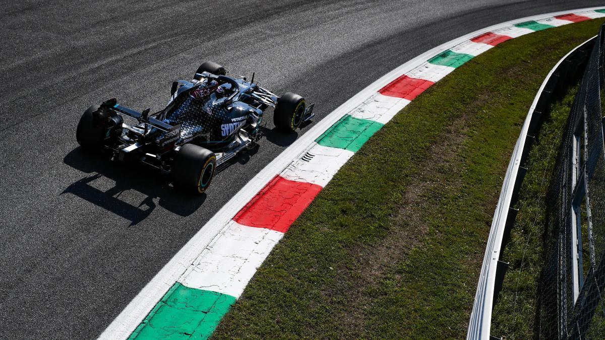Hamilton rodando en Monza.