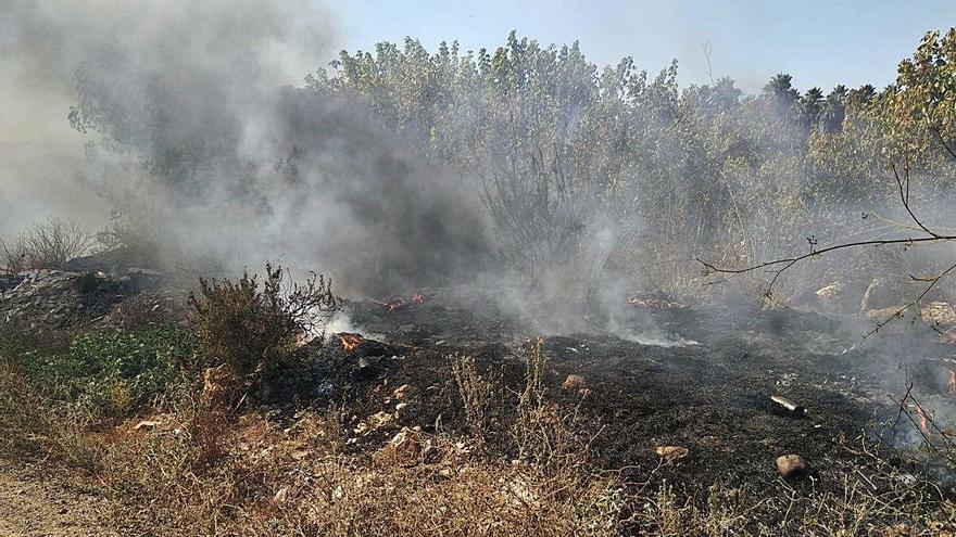 Un fuego provocado en Alcàntera