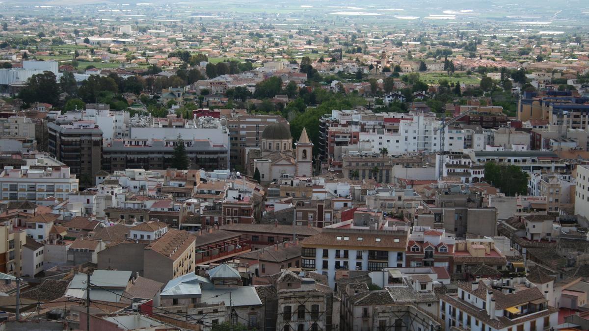 Panorámica del conjunto histórico de Lorca.