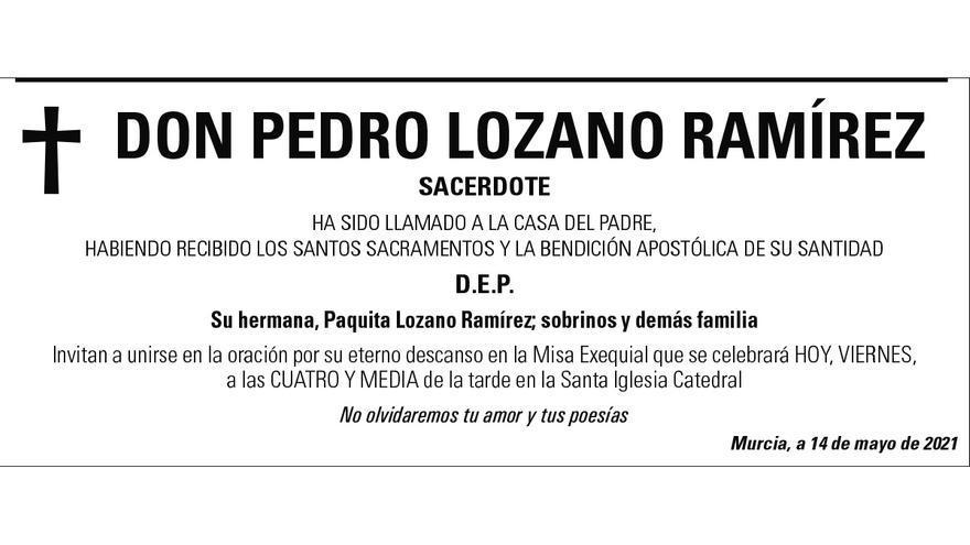 D. Pedro Lozano Ramírez