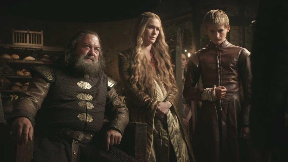 Robert Baratheon, Cersei Lannister and Joffrey.