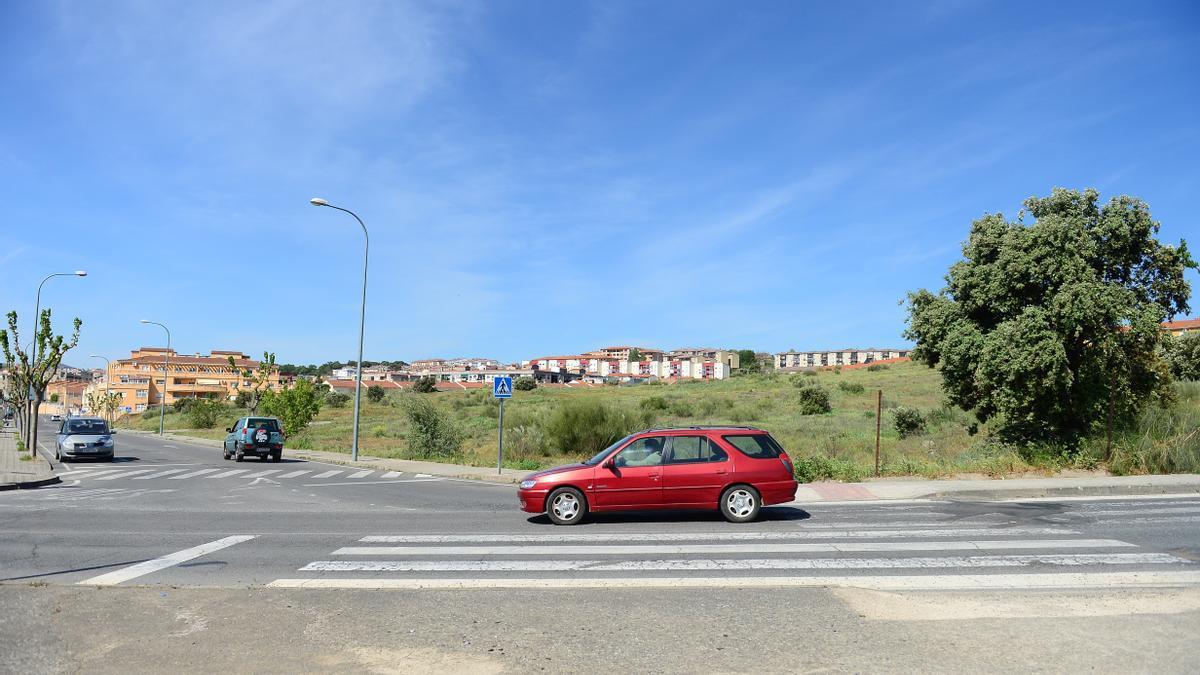 Vista de parte del terreno donde está prevista la urbanización.