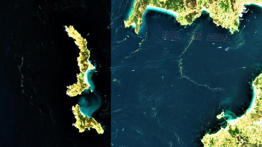 Las mareas rojas en las Rías Baixas, también desde el espacio
