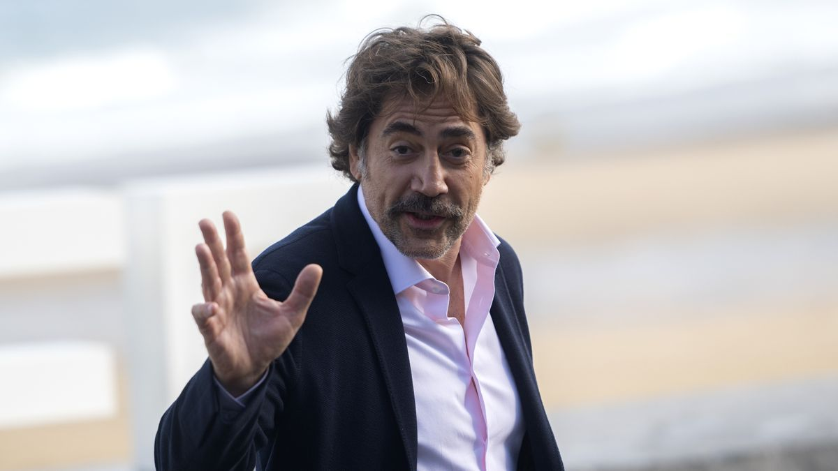 Javier Bardem, fotografiado en San Sebastián tras la presentación de 'El buen patrón'.