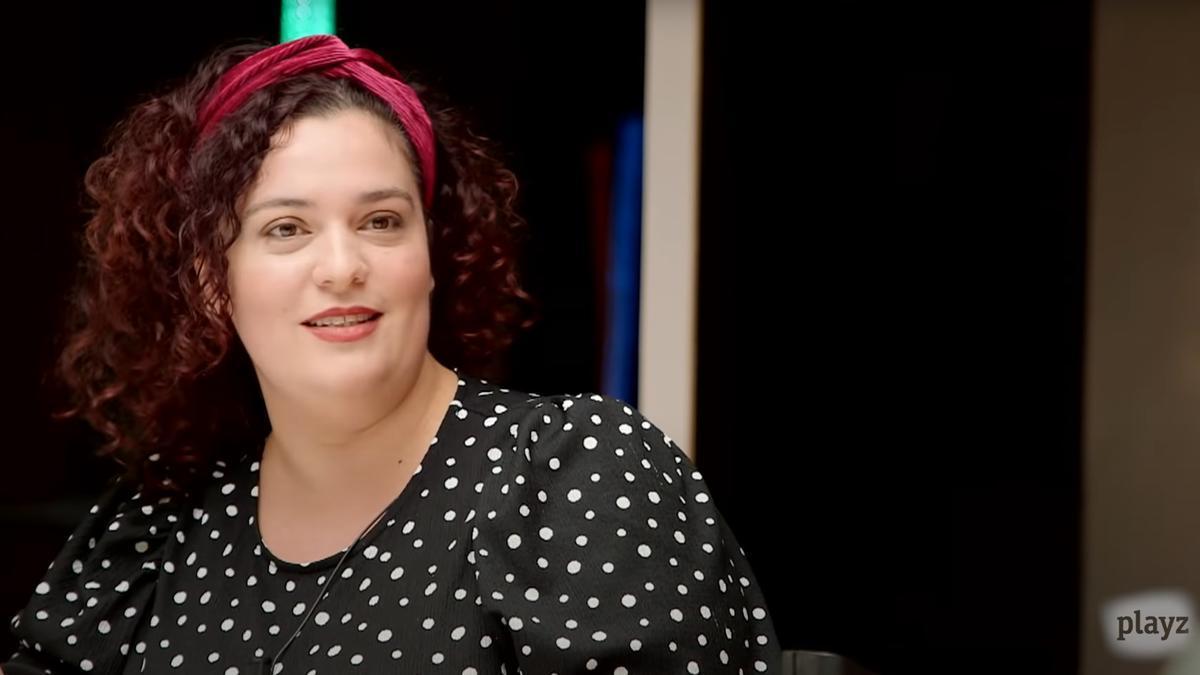 La zamorana Beatriz Cepeda, más conocida como Perra de Satán, durante su intervención en el programa PlayZ.