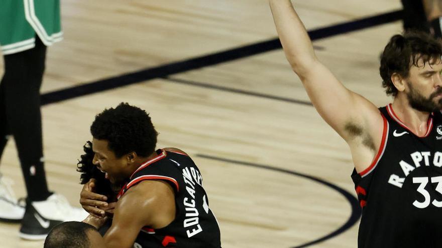 Los Raptors vencen a los Celtics sobre la bocina y los Clippers arrollan a los Nuggets