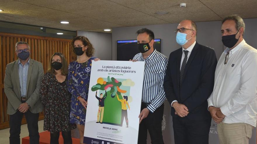 Doce ninots sobre contenedores verdes de reciclaje de vidrio homenajearán a las Hogueras del 17 al 27 de junio