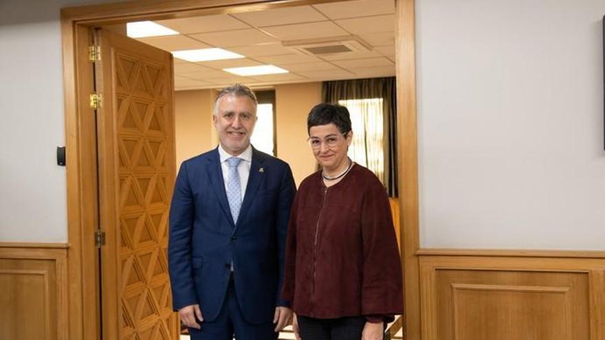 Ángel Víctor Torres recibe en Gran Canaria a la ministra de Asuntos Exteriores, Arancha González Laya