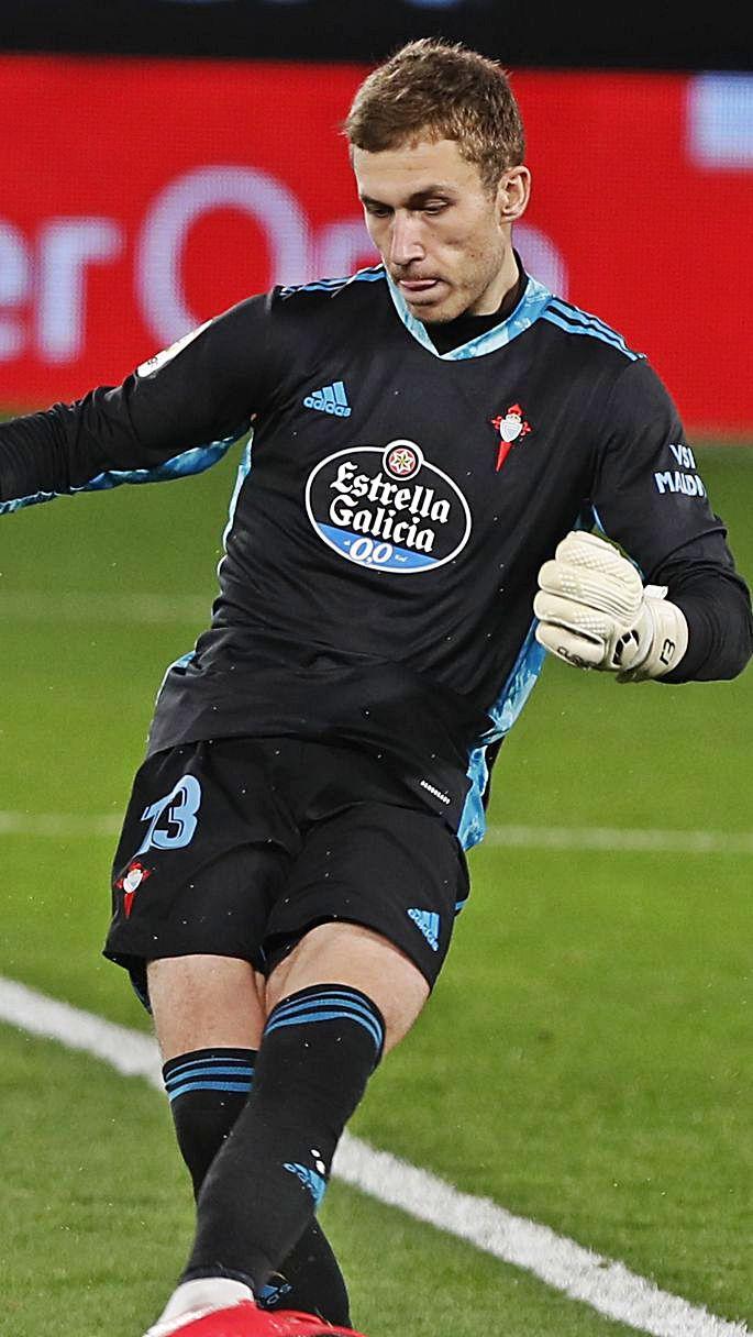 Rubén Blanco, en un partido de Liga.