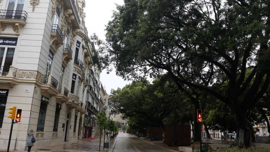 El Centro de Málaga y el mercado de Atarazanas, vacíos por la crisis del coronavirus