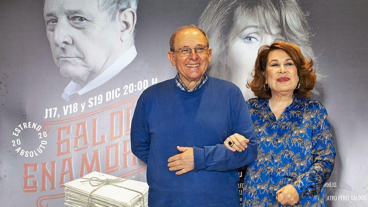 Emilio Gutiérrez Caba y María José Goyanes