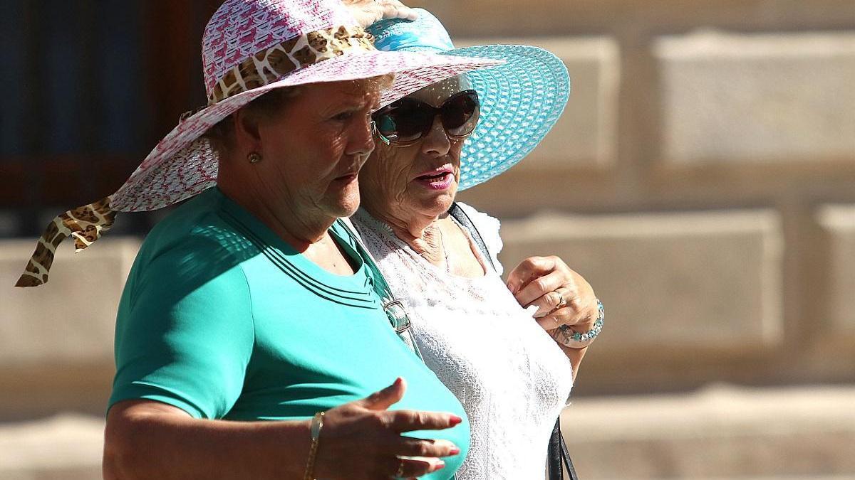 Turistas en la capital.