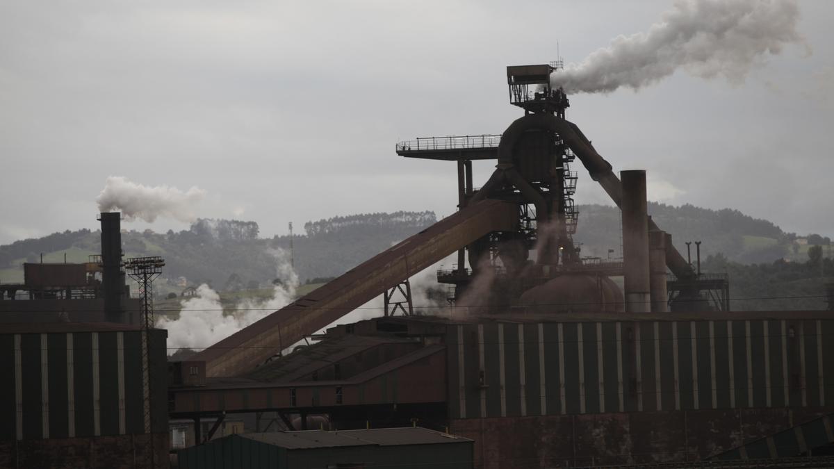 Horno alto de Arcelor en Gijón.