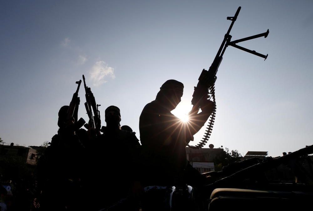 Palestinian Islamic Jihad militants mark first ...