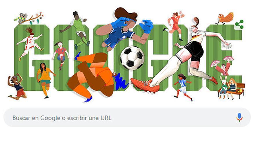 El Mundial femenino, en el 'doodle' de Google