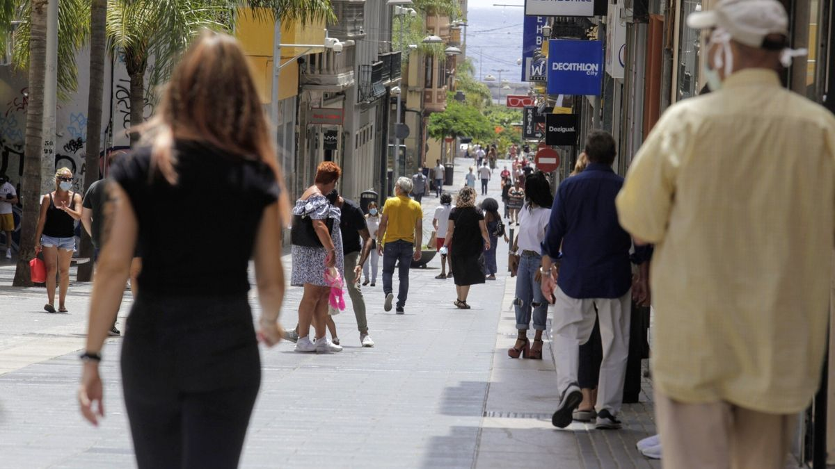 Calle Castillo, en Santa Cruz.