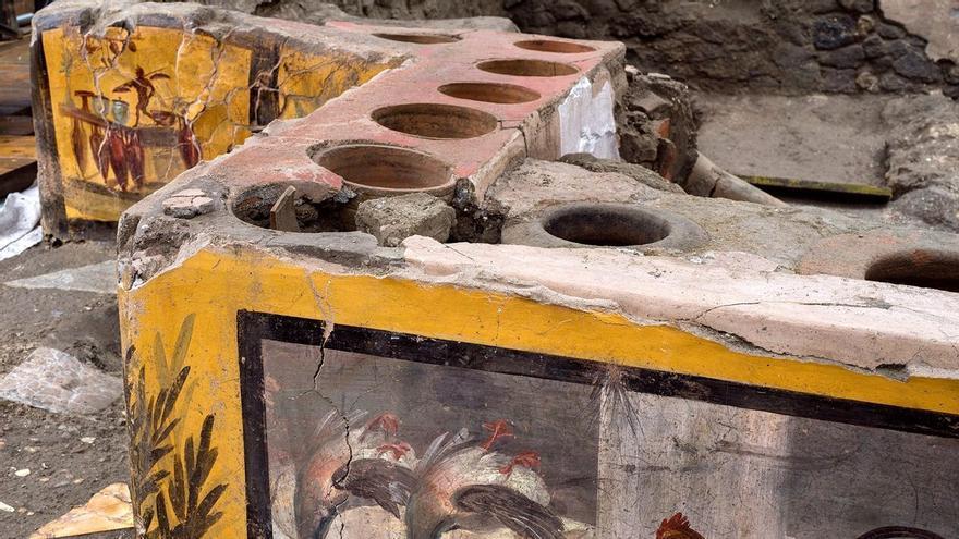 Pompeya abre al público un excepcional termopolio