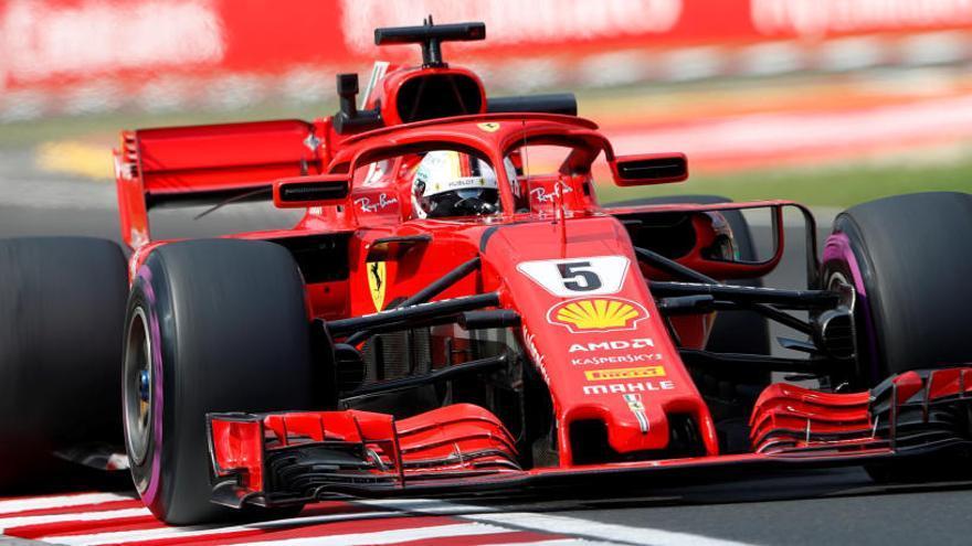 Vettel, el más rápido en el segundo libre de Hungaroring