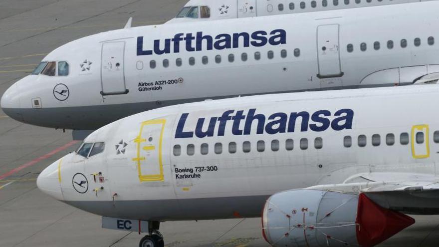Más de 800 vuelos afectados por huelga de Lufthansa