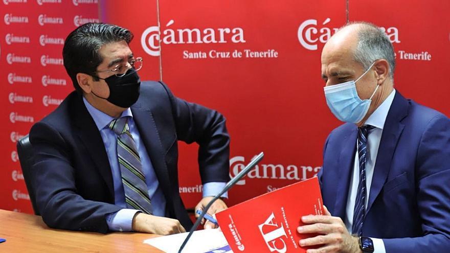 Cámara y Cabildo de Tenerife firman un convenio para invertir 1,2 millones en 14 proyectos