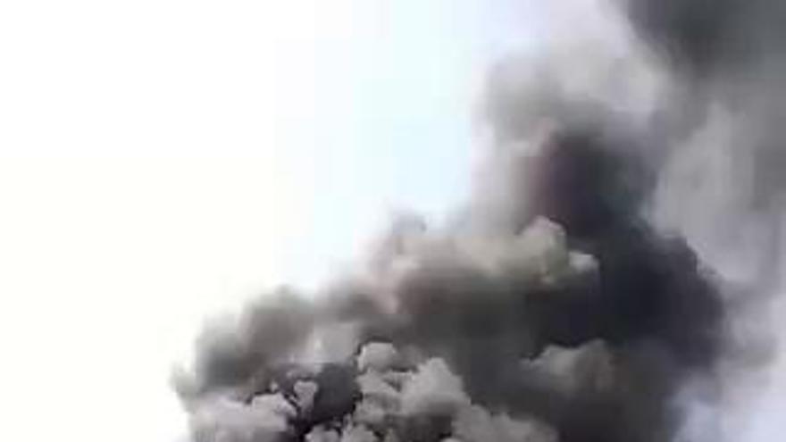 Un herido al arder una planta de Grefusa en Alzira