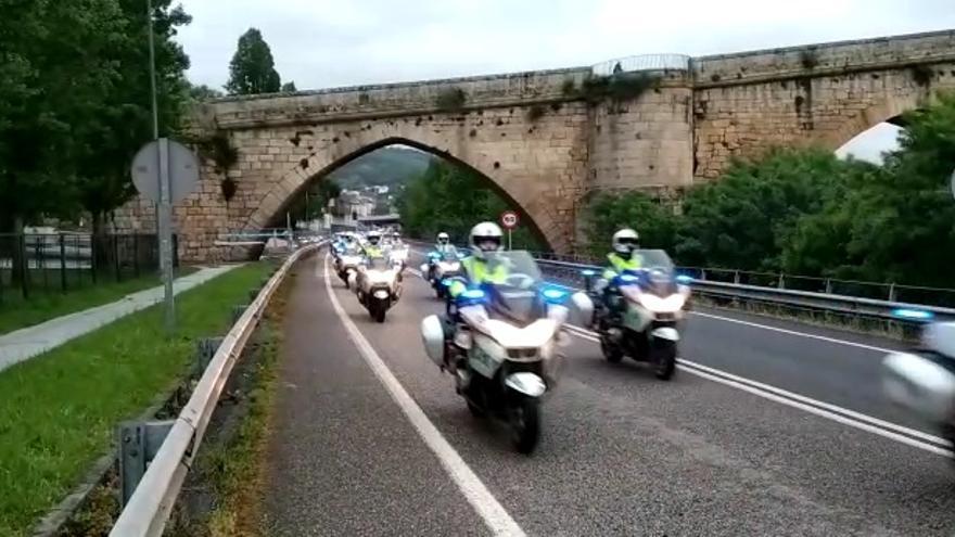 Los aspirantes a Guardia Civil de Tráfico prueban las carreteras gallegas