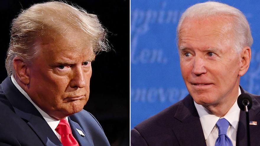 Trump y Biden exhiben sus diferencias irreconciliables