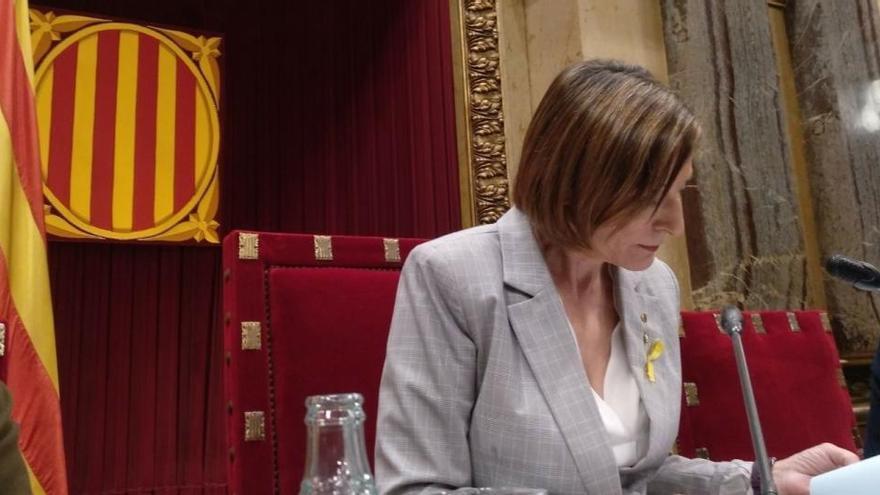 El juez avala el régimen de semilibertad de Forcadell y Bassa