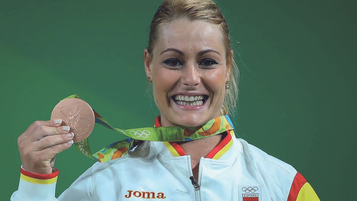 Lidia Valentín, con su medalla en Río