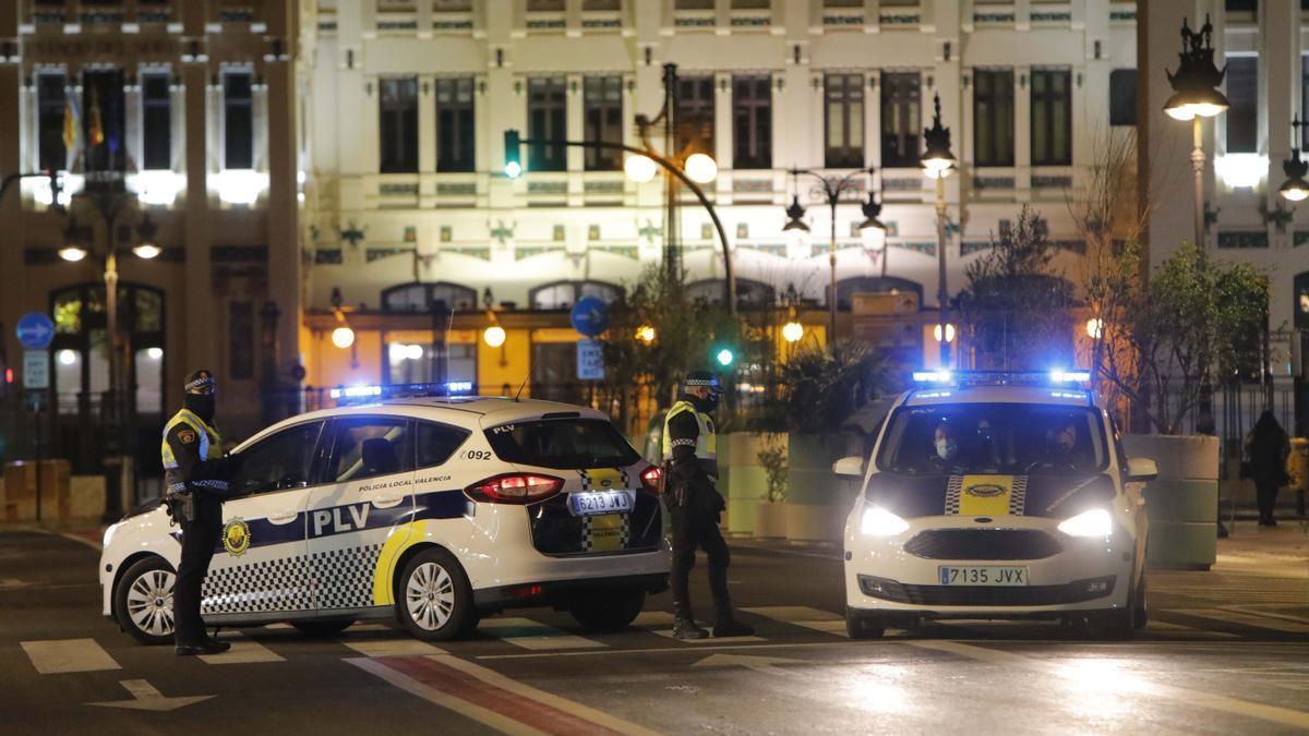 La Policia Local va tindre treball extra la nit de Cap d'Any