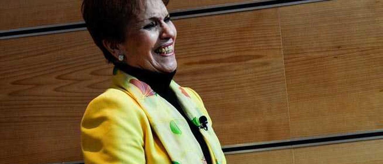 Mary Sánchez, ayer, tras la presentación de su gira.