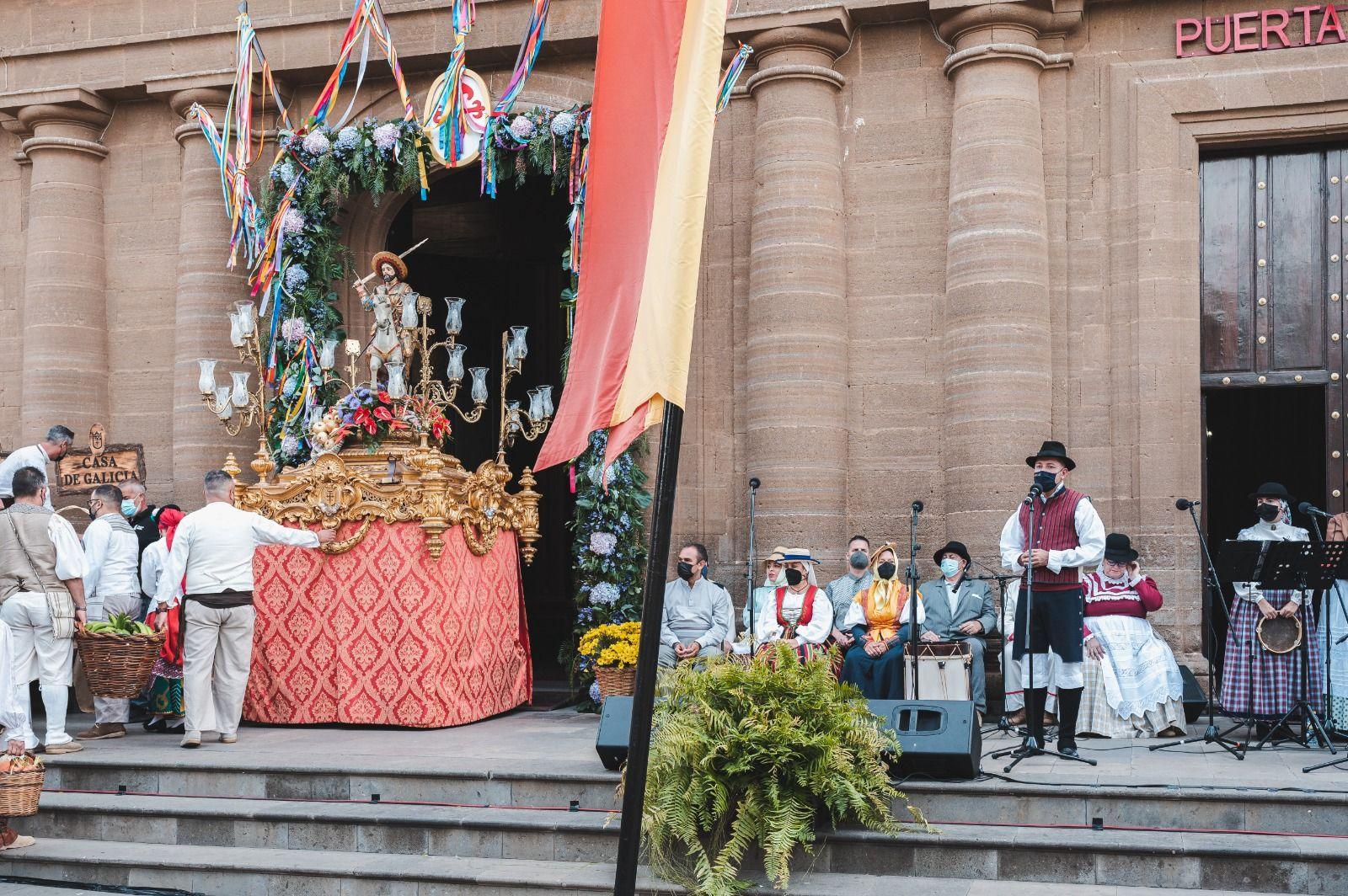 Ofrenda a Santiago Apóstol en Gáldar (17/07/2021)