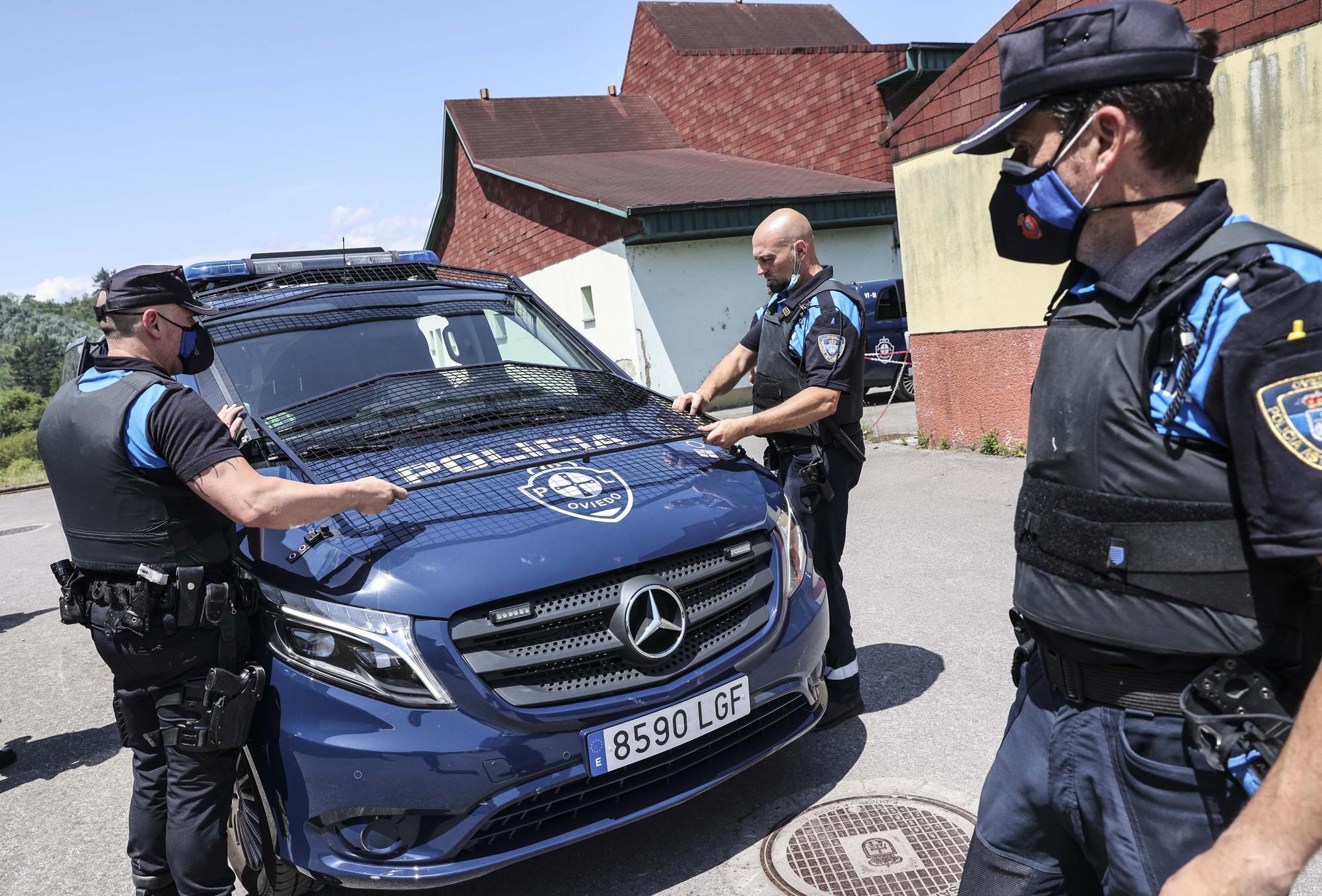 Ejercicios de la Policía Local.