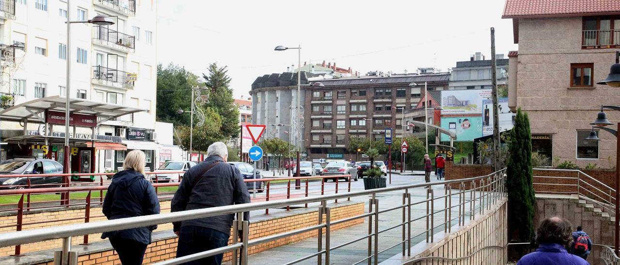 La Avenida de Galicia en Porriño.