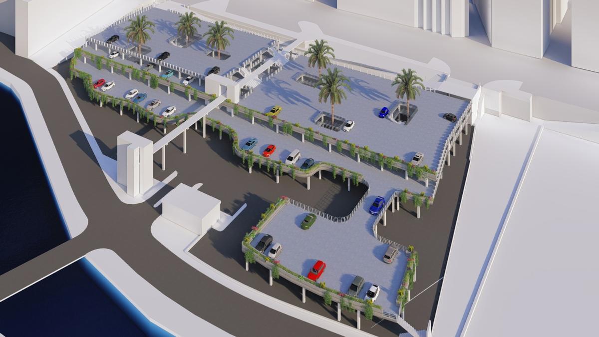 Vista de cómo quedará la segunda planta del aparcamiento.