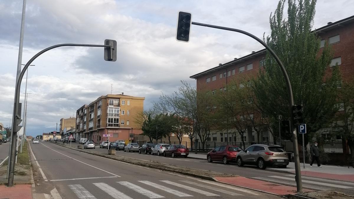 Semáforos de un tramo de la avenida Carlos Latorre de Toro