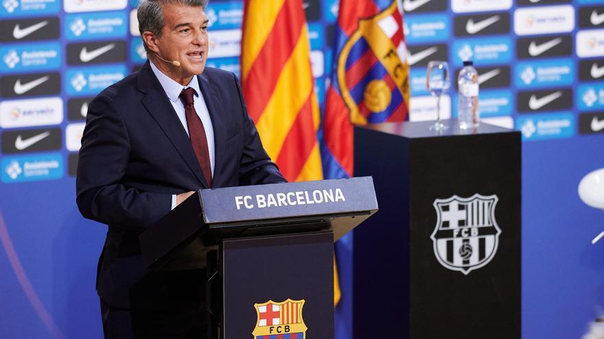 Laporta: «El nou contracte de Messi va bé, però no està fet encara»
