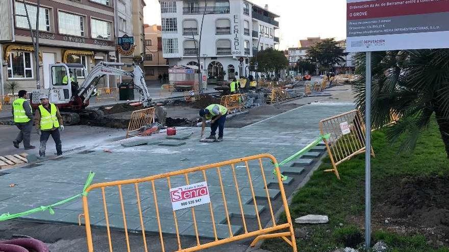 Las obras de reforma de Beiramar y la calle Don Pedro entran en su recta final
