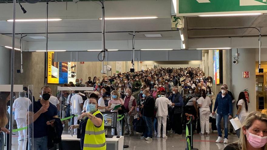 Así se colapsó el aeropuerto de Palma el fin de semana pasado